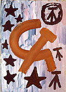 Untitled 1968 - A R Penck reproduction oil painting