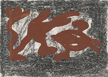 Untitled 1974 - A R Penck reproduction oil painting