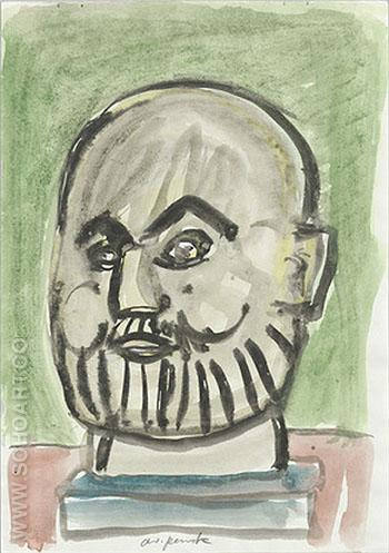 Untitled 1987 - A R Penck reproduction oil painting