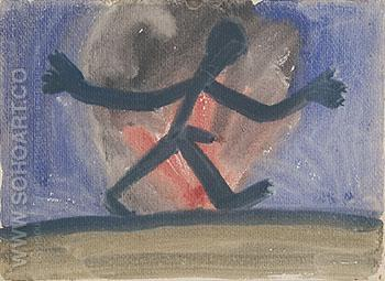 Untitled II 1967 - A R Penck reproduction oil painting