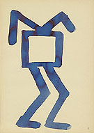 Untitled 5 1967 - A R Penck reproduction oil painting