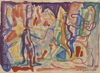 Untitled c1980 - A R Penck reproduction oil painting