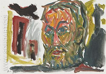 Untitled Selbstbildnis 1987 - A R Penck reproduction oil painting