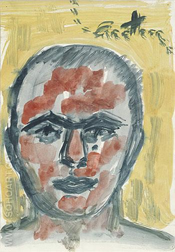 Untitled Self Portrait 1973 - A R Penck reproduction oil painting
