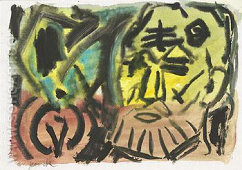 Untitled Self Portrait 1987 - A R Penck reproduction oil painting