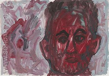 Untitled Self Potrait I 1987 - A R Penck reproduction oil painting