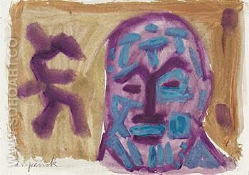 Untitled Self Portrait 2 1987 - A R Penck reproduction oil painting