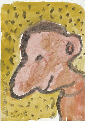 Untitled Self Portrait 3 1987 - A R Penck reproduction oil painting