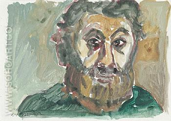 Untitled Self Portrait 5 1987 - A R Penck reproduction oil painting