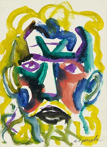 Untitled Self Portrait c1980 - A R Penck reproduction oil painting