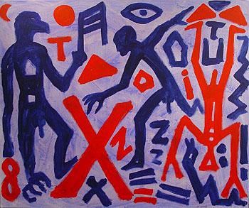 Vergessene - A R Penck reproduction oil painting