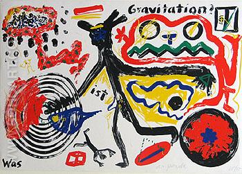 What is Gravity 1984 - A R Penck reproduction oil painting