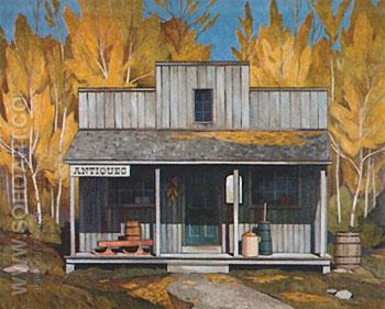 Antique Store - A.J. Casson reproduction oil painting