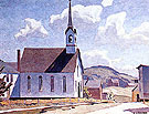 Church of St Lawrence Otoole - A.J. Casson reproduction oil painting