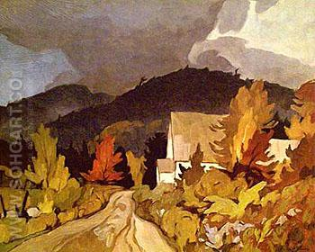 Country Church - A.J. Casson reproduction oil painting