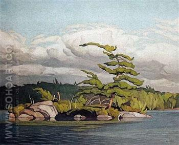 Moose Lake - A.J. Casson reproduction oil painting