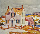 Farm House A - A.J. Casson reproduction oil painting