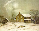 Farm House March Day - A.J. Casson