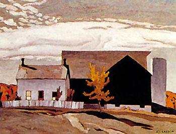 Farm Near Vandorf - A.J. Casson reproduction oil painting