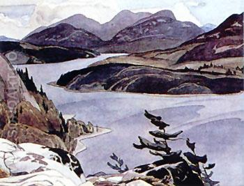Flood Lake - A.J. Casson reproduction oil painting