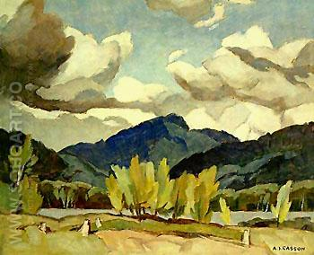 Hills at Baptiste Lake - A.J. Casson reproduction oil painting