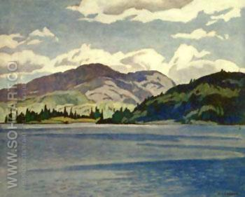 Kamaniskeg Lake Summer - A.J. Casson reproduction oil painting