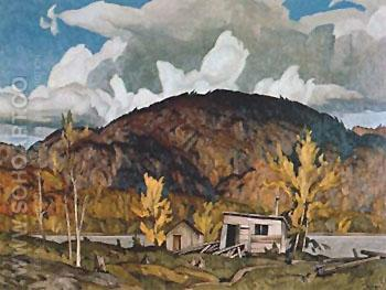 Lumbermans Cabin - A.J. Casson reproduction oil painting