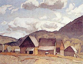 Near Quadville - A.J. Casson reproduction oil painting