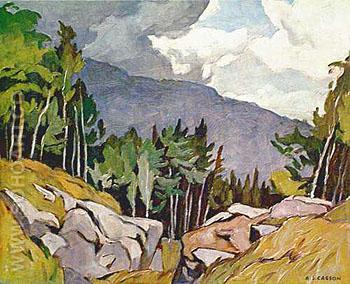 Near Rockingham - A.J. Casson reproduction oil painting