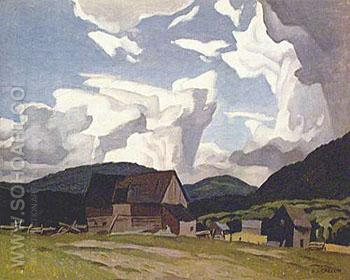 Northern Farm - A.J. Casson reproduction oil painting