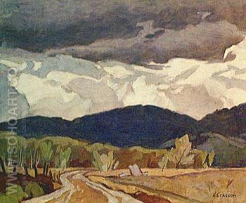 Northern Road - A.J. Casson reproduction oil painting