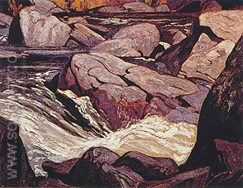 Palmer Rapids - A.J. Casson reproduction oil painting