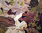 Ragged Falls - A.J. Casson reproduction oil painting