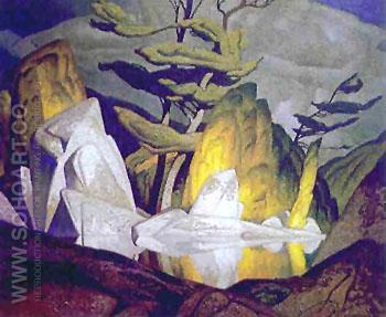 Rock Pool - A.J. Casson reproduction oil painting