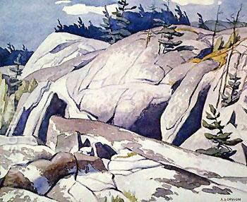 Rock Study - A.J. Casson reproduction oil painting