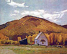 School House at Halfway Lake - A.J. Casson reproduction oil painting
