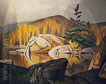 Still Morning B - A.J. Casson reproduction oil painting