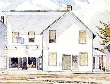 Store in Bancroft - A.J. Casson reproduction oil painting