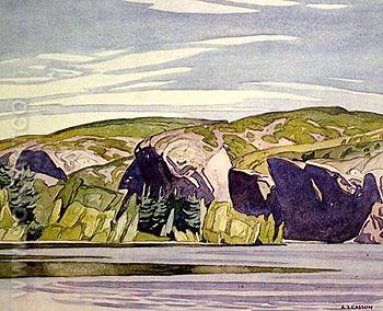 Summer Lake Mazinaw - A.J. Casson reproduction oil painting