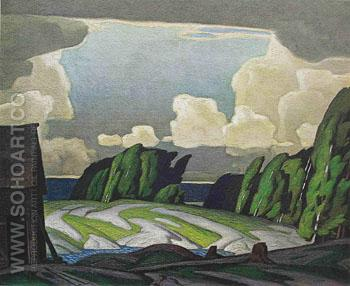 Summer Storm - A.J. Casson reproduction oil painting