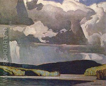 Summer Storm I - A.J. Casson reproduction oil painting