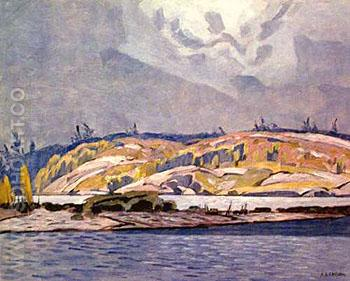 The Channel at Britt - A.J. Casson reproduction oil painting