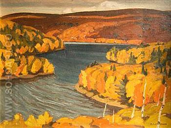 Autumn Redstone Lake 1937 - A.J. Casson reproduction oil painting