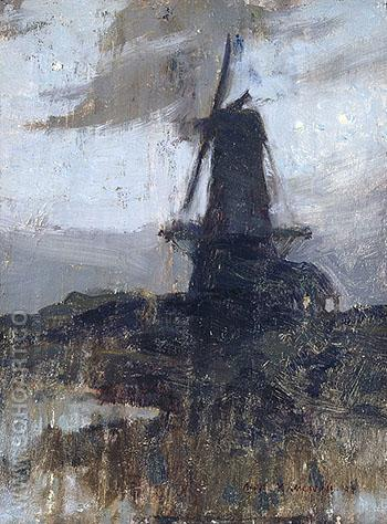 A Dutch Windmill at Night 1909 - A.Y. Jackson reproduction oil painting