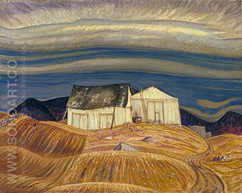 A Quebec Farm 1928 - A.Y. Jackson reproduction oil painting