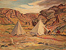 Camp in Country 1950 - A.Y. Jackson reproduction oil painting