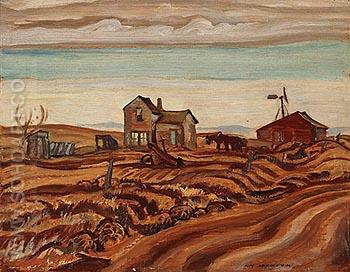 Drought Area Alberta 1937 - A.Y. Jackson reproduction oil painting