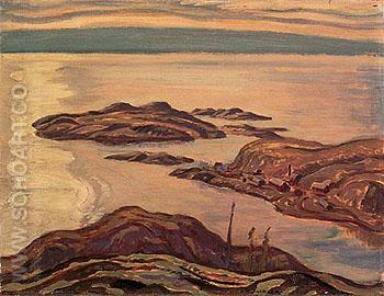 Eldorado Mines Labine Point 1938 - A.Y. Jackson reproduction oil painting