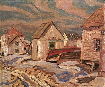 Fox River Gaspe II 1936 - A.Y. Jackson reproduction oil painting
