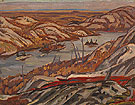 Grace Lake Algoma 1939 - A.Y. Jackson reproduction oil painting
